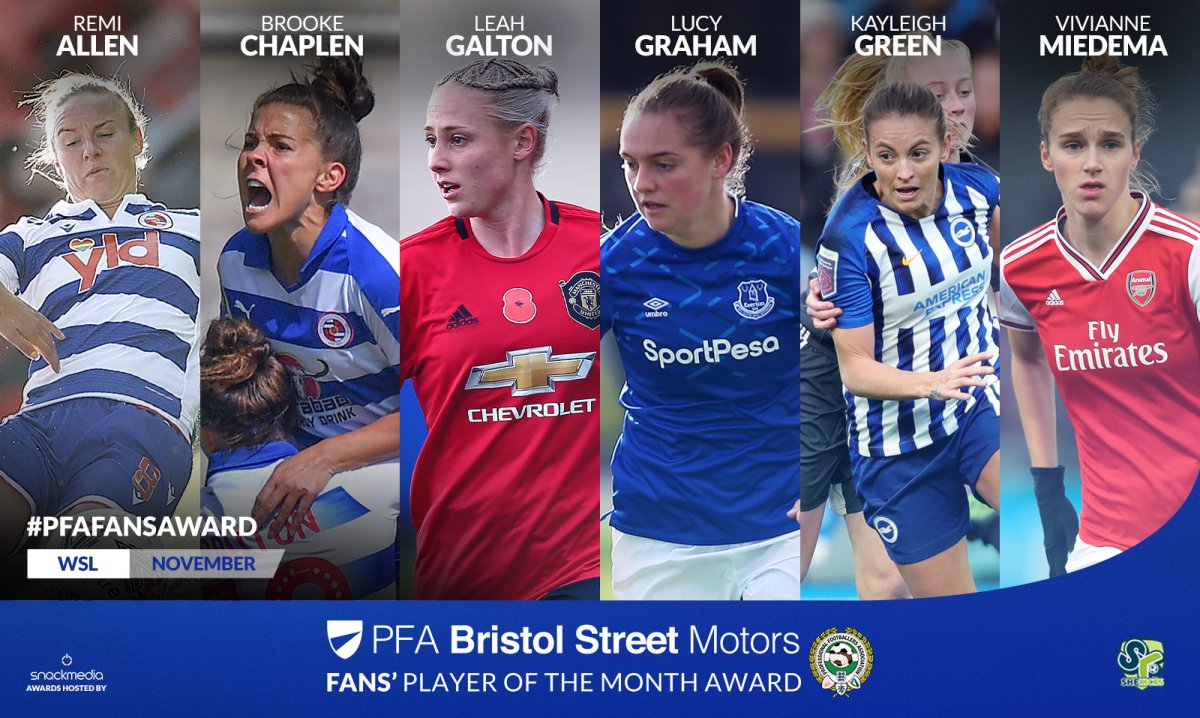 PFA Fans Award Player of the Month shortlist
