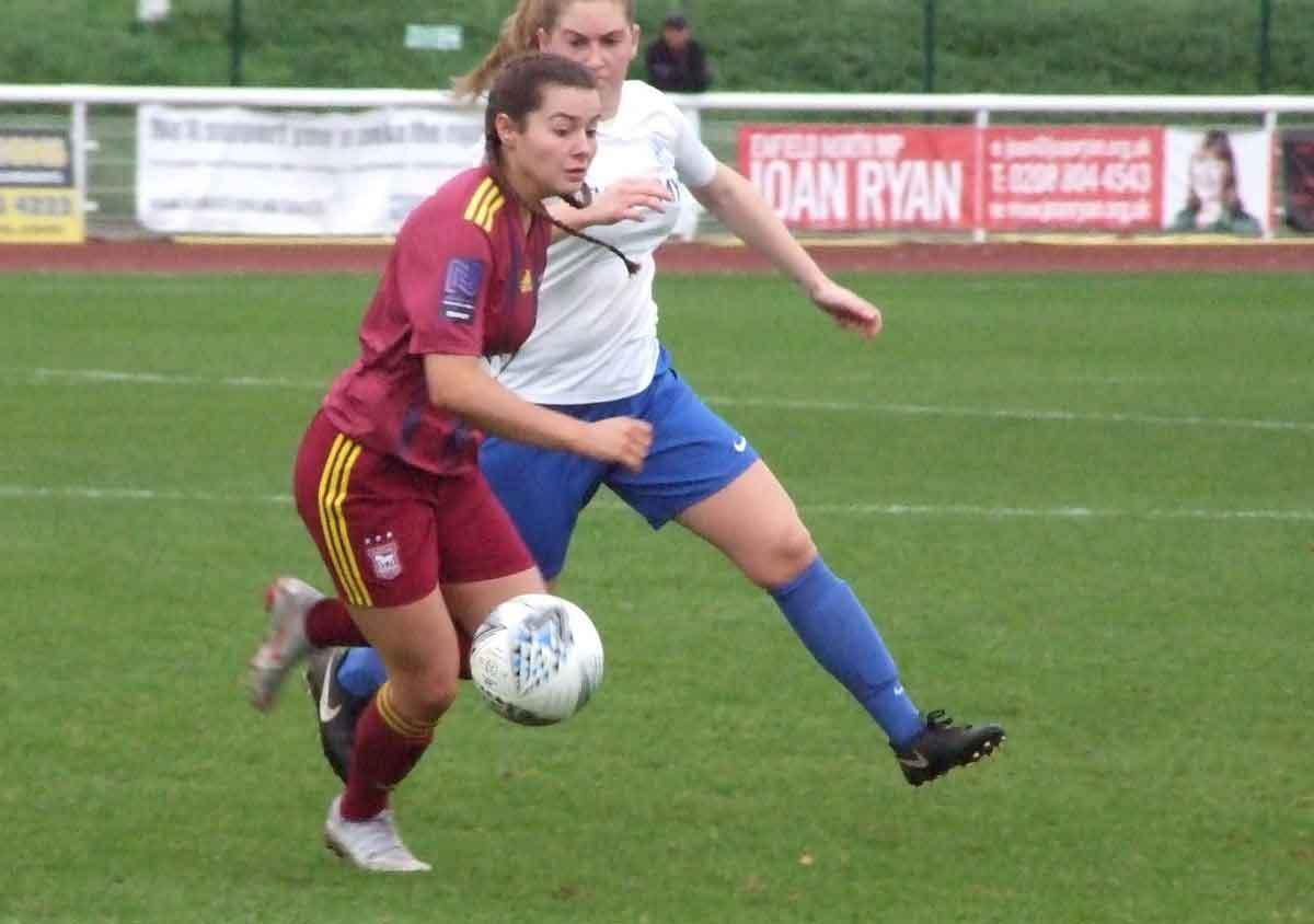 Ipswich Town's hat-trick hero, Maddie Briggs