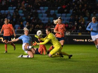 Manchester City's Pauline Bremer made it nine goals in eight games