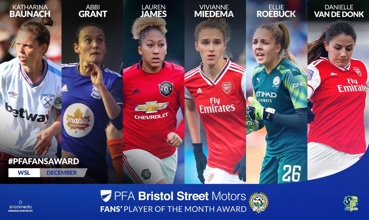 PFA Bristol Street Motors Fans' Player of the Month Award