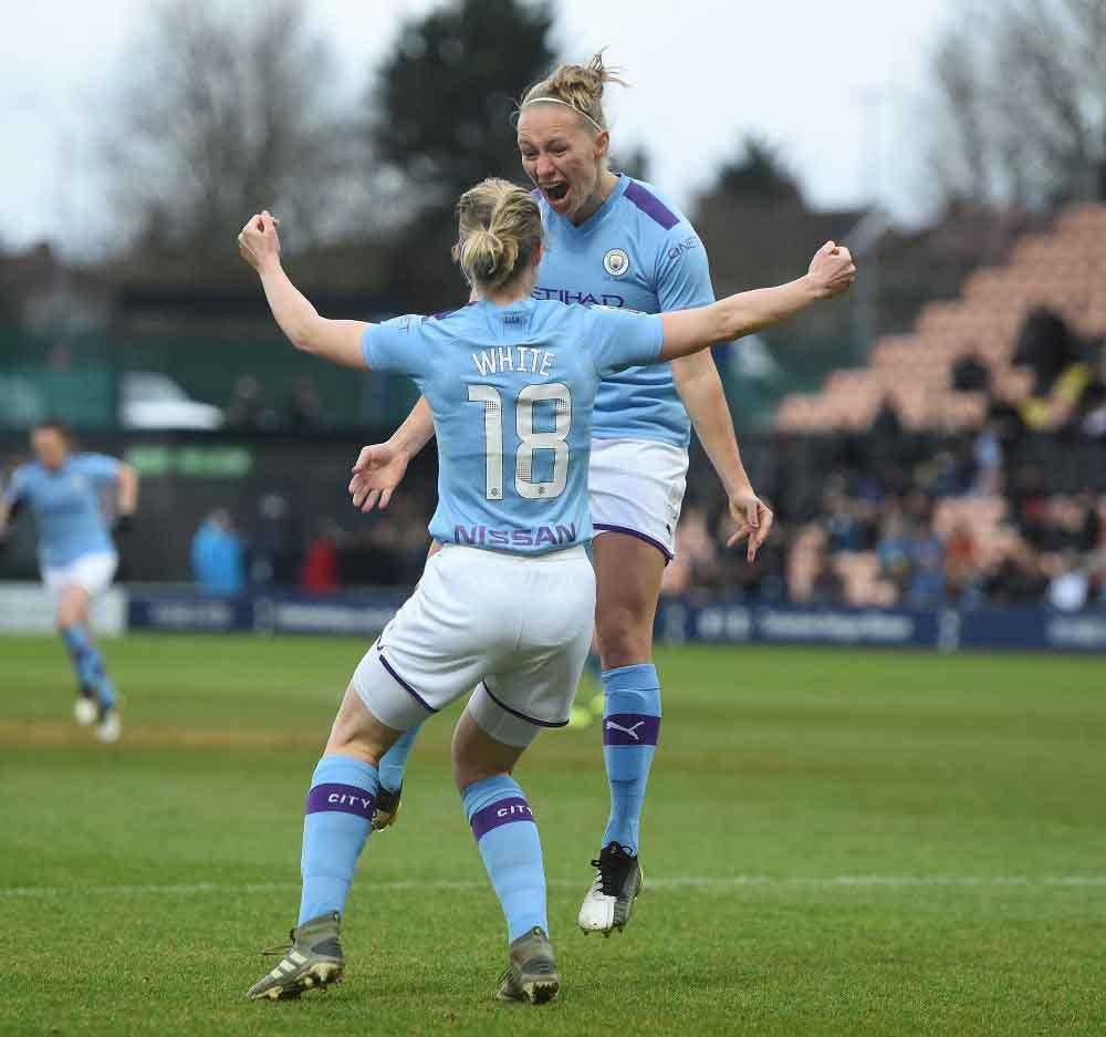 Pauline Bremer scored twice for Man City