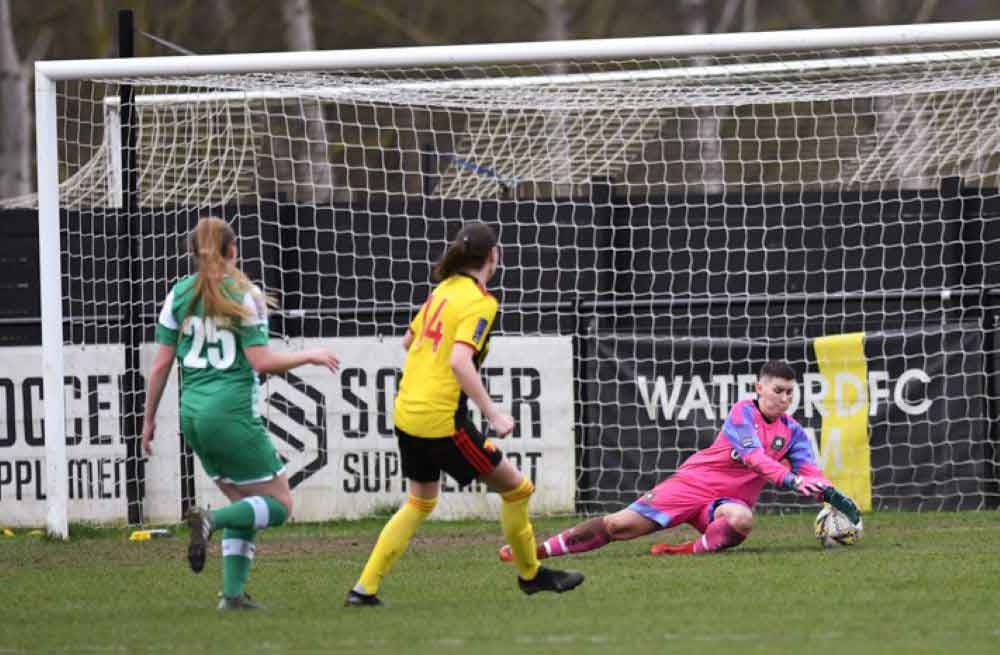 Katie O'Leary hit a hat-trick for Watford.