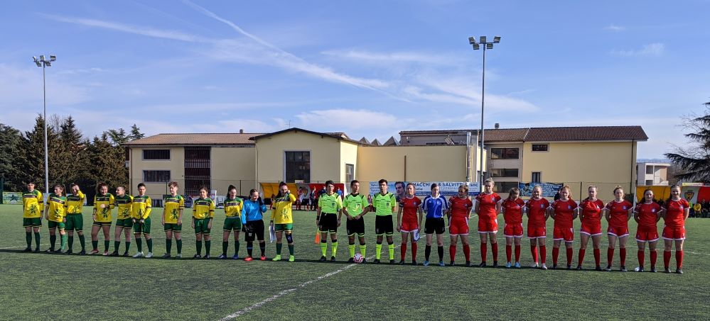 England Colleges and Moldova line up