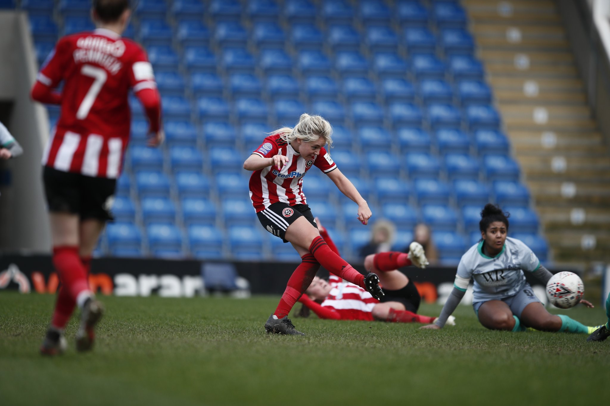 Mollie Green scores Sheffield United's fourth.
