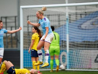 Scorer f Man City's opener, Pauline Bremer