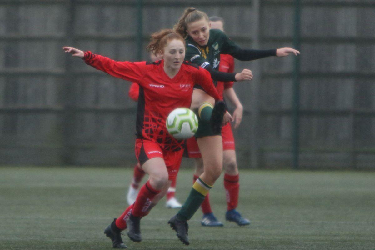 Solent University's hat-trick hero, Kayleigh Tonks