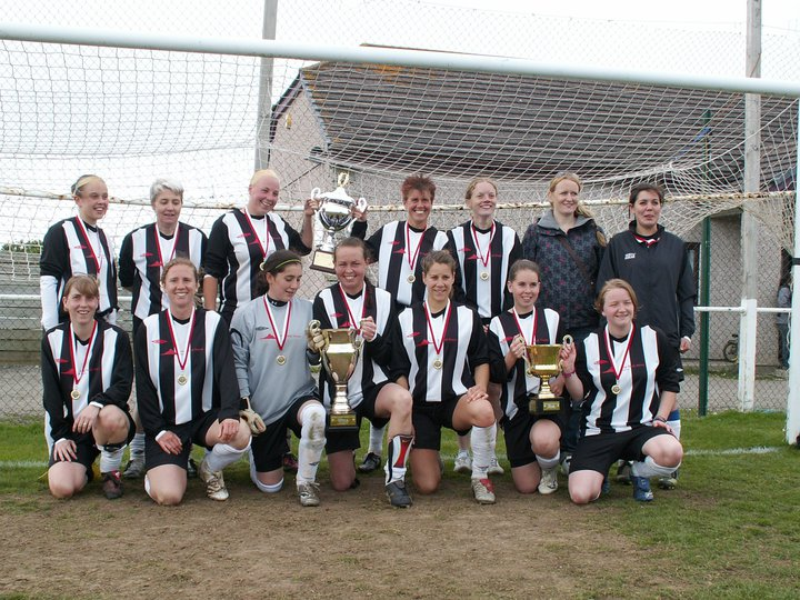 Penzance with Cornwall League trophies