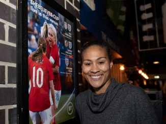 Rachel Yankey supports BT's Red Lioness pledge