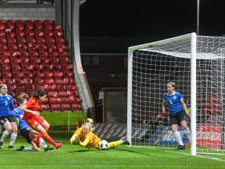 Megan Wynne scored her first Wales goal.