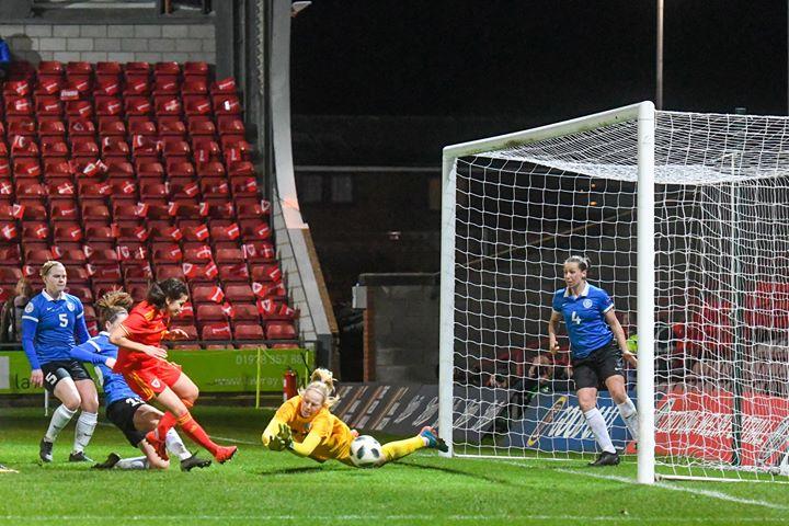 Megan Wynne scored her first Wales goal.