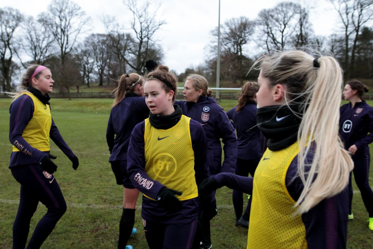 England U19 squad training