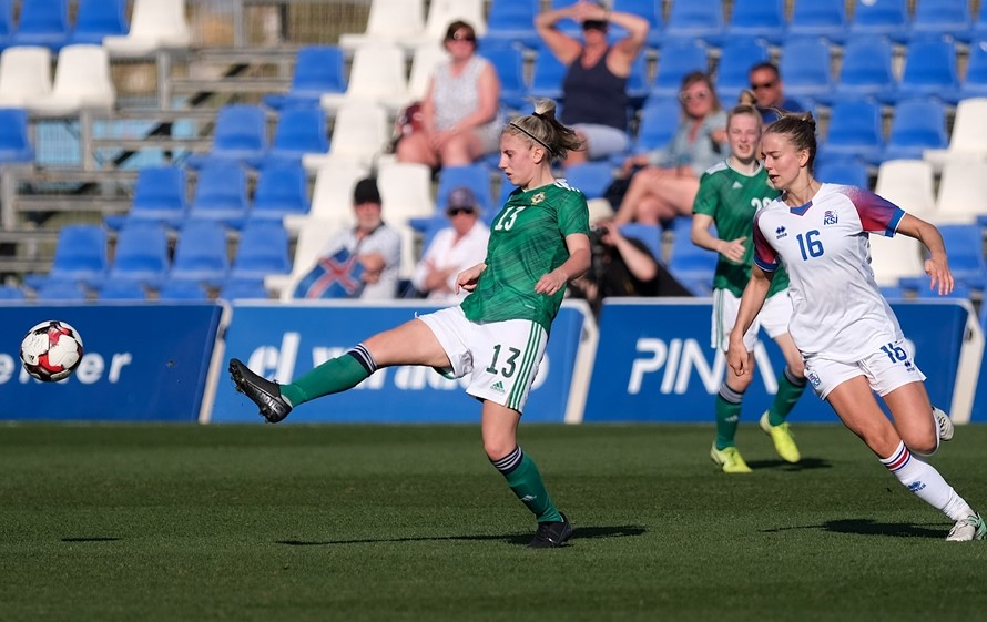 Kelsie Burrows made her first start for Northern Ireland