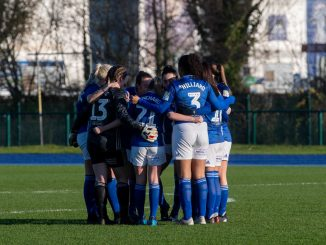 Cardiff City FC Women huddle