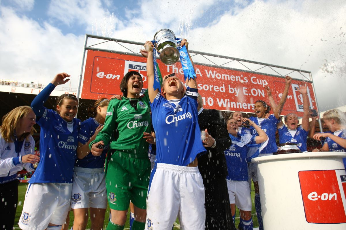 Eveton won the FA Cup in 2010