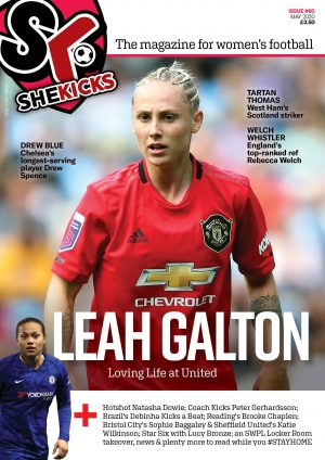 She Kicks Issue #60 cover featuring Leah Galton