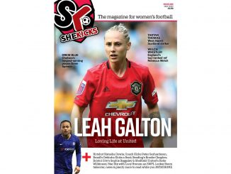 She Kicks Issue 60 cover with Leah Galton