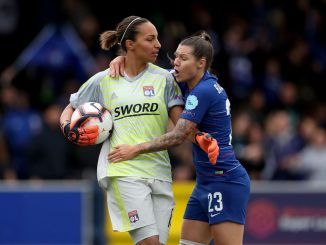 France goalkeeper Sarah Bouhaddi leaving Lyon