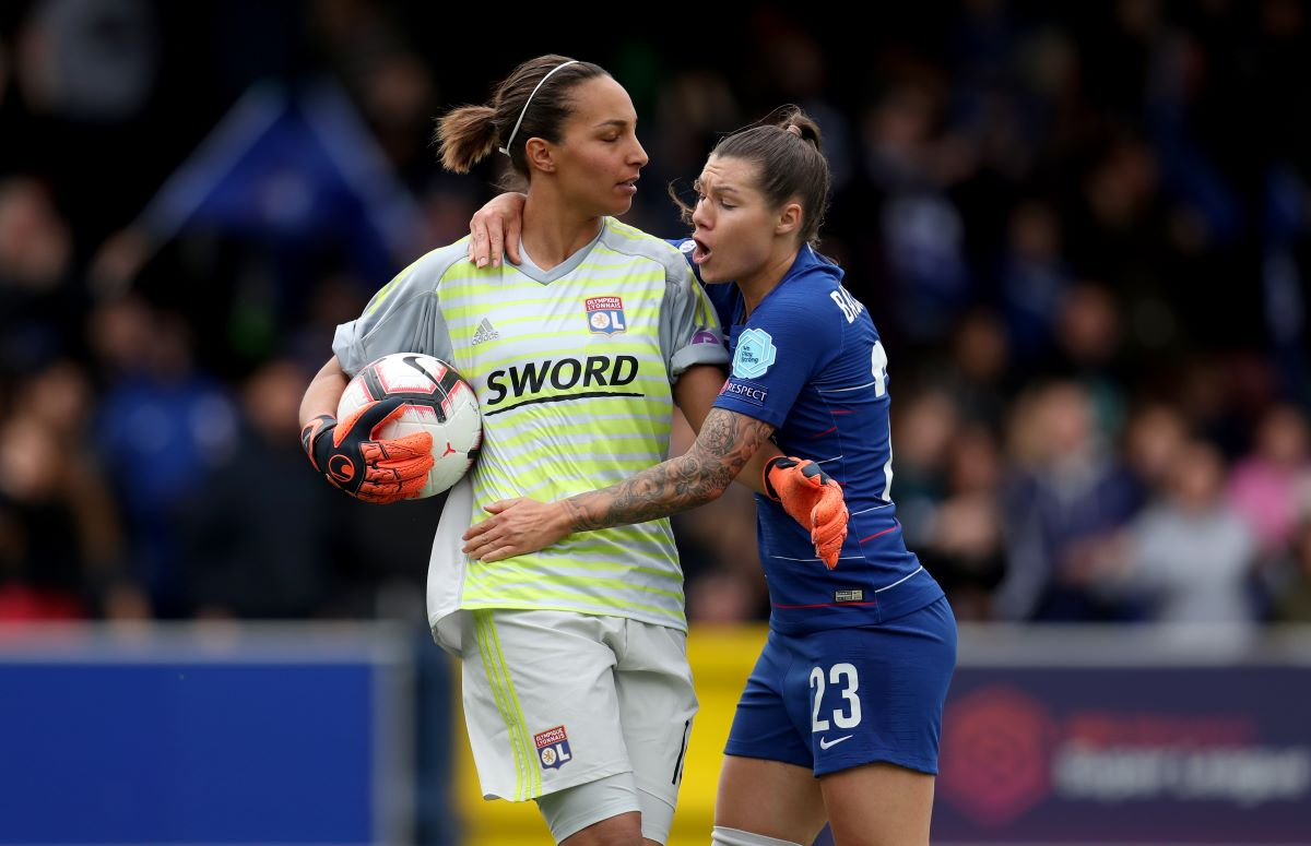 France goalkeeper Sarah Bouhaddi leaving Lyon
