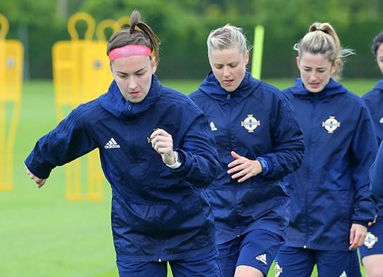 Northern ireland and Linfield forward, Chloe McCarron