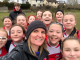Louise Walker with Aberdeen LFC U-13s