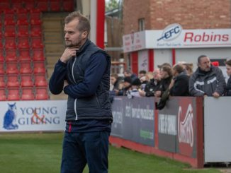 Alex Cheal, who has stepped down as manager of Cheltenham Tow