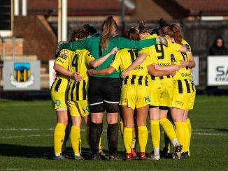 AFC Fylde Women in a huddle