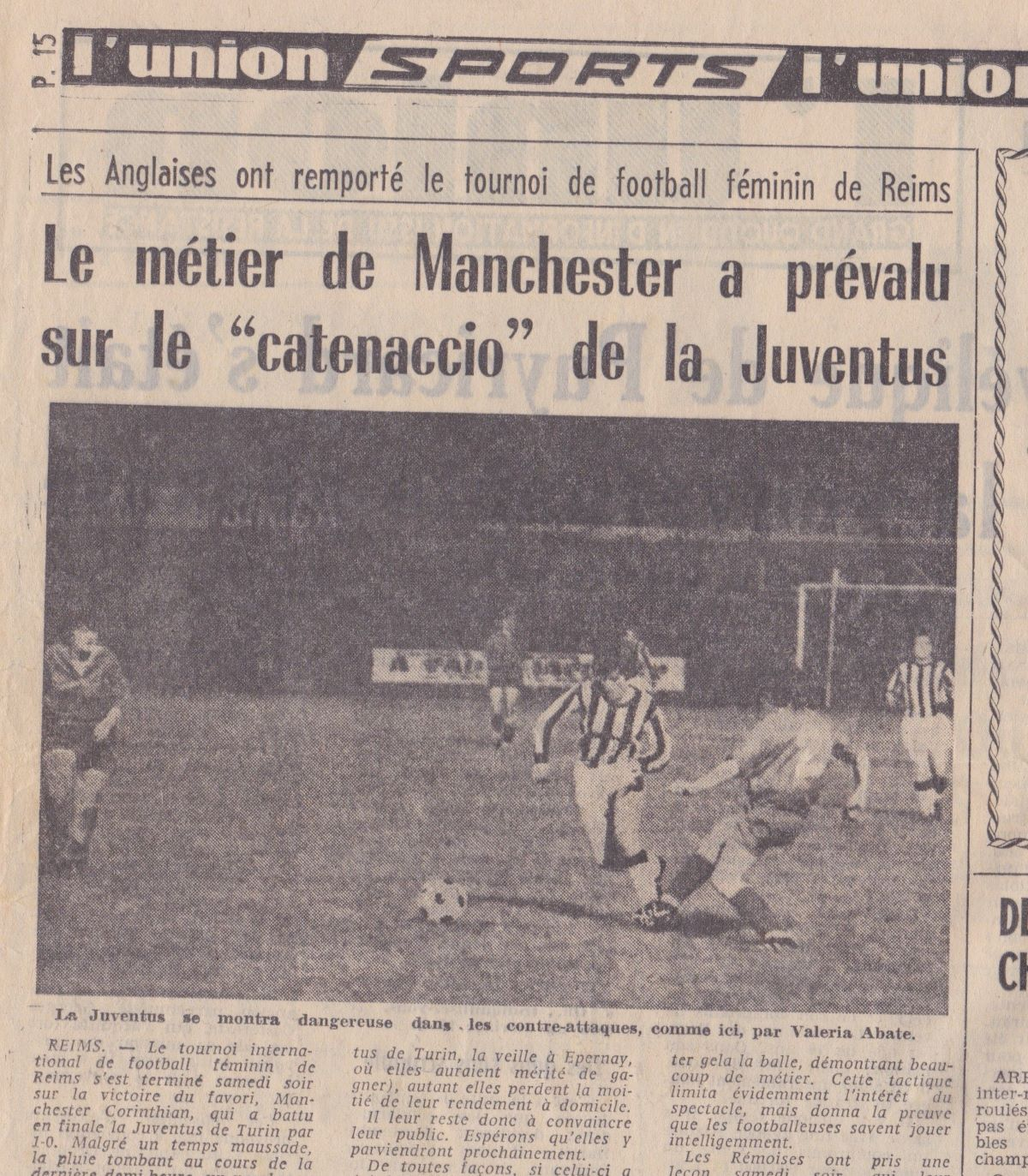 Newspaper coverage of the Reims final in 1970