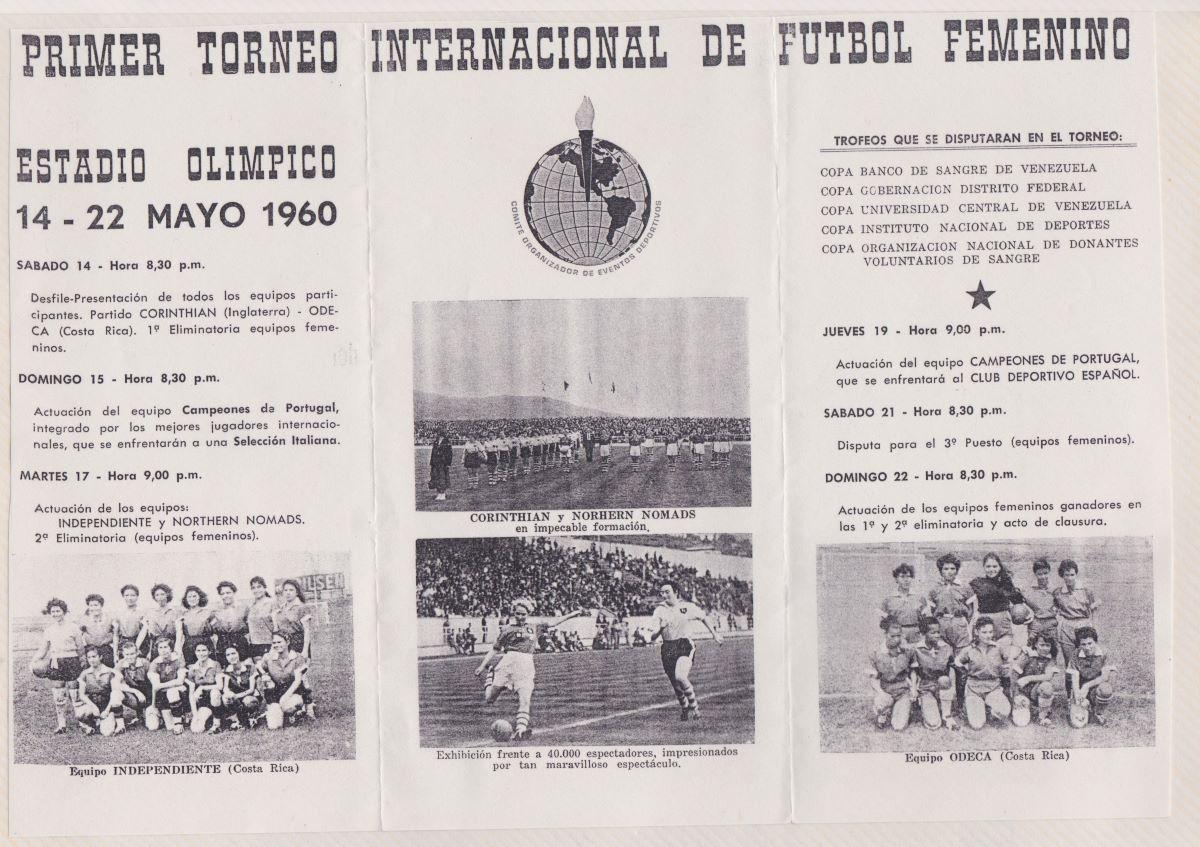 Torneo Internacional De Futbol Femenino programme
