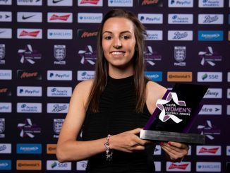 leah Embley with FA Award