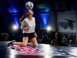 World freestyle football womens champion, Melody Donchet
