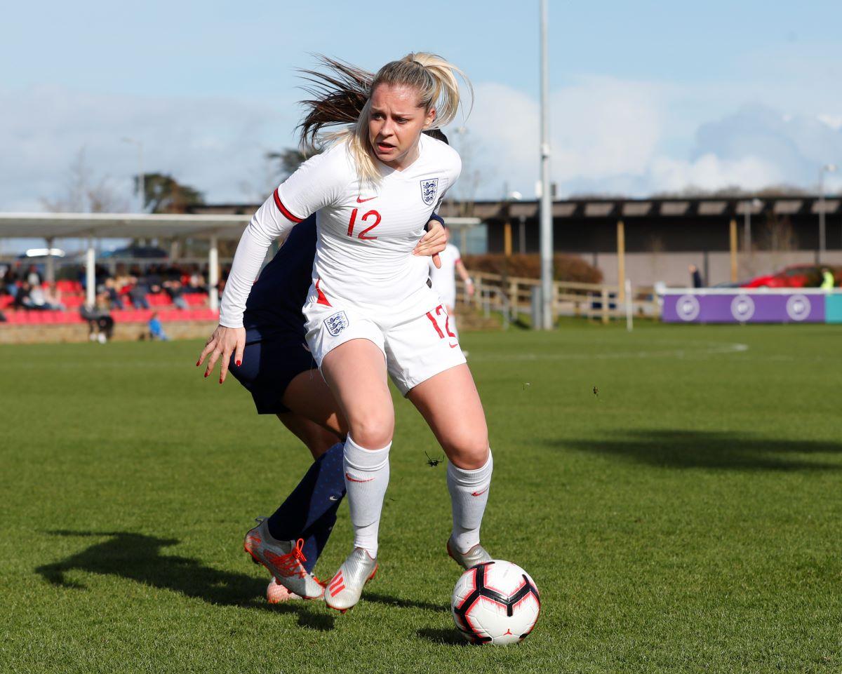 England U-21's Poppy pattinson leaving Bristol City