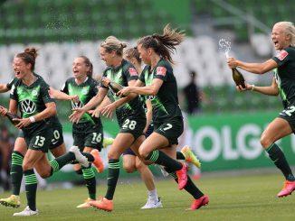 VfL Wolfsburg celebrate Frauen Bundeslig title