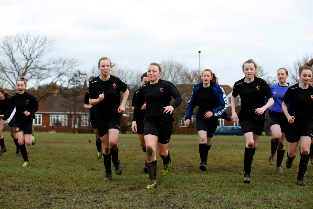 Boldon Girls training