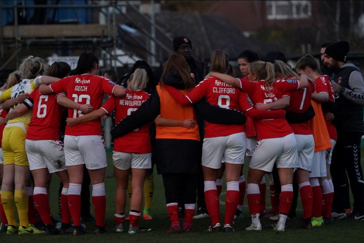 Charlton Athletic huddle