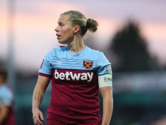 West ham cpatain, Gilly Flaherty