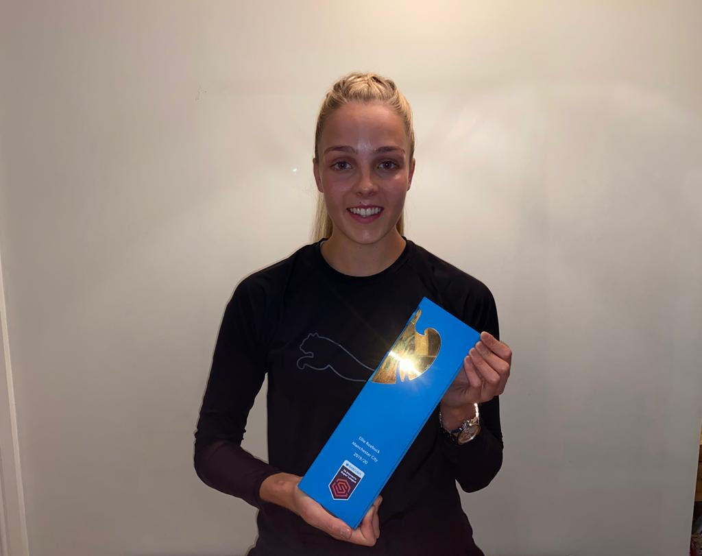 WSL Golden Glove winner, Ellie Roebcuk