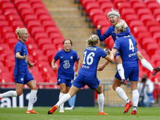 Chelsea celebrate Millie bright's opener