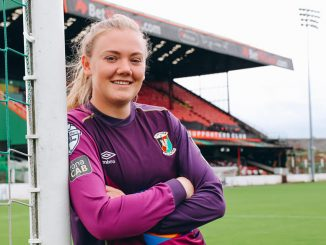 Glentoran's new signing, Jacqueline Burns