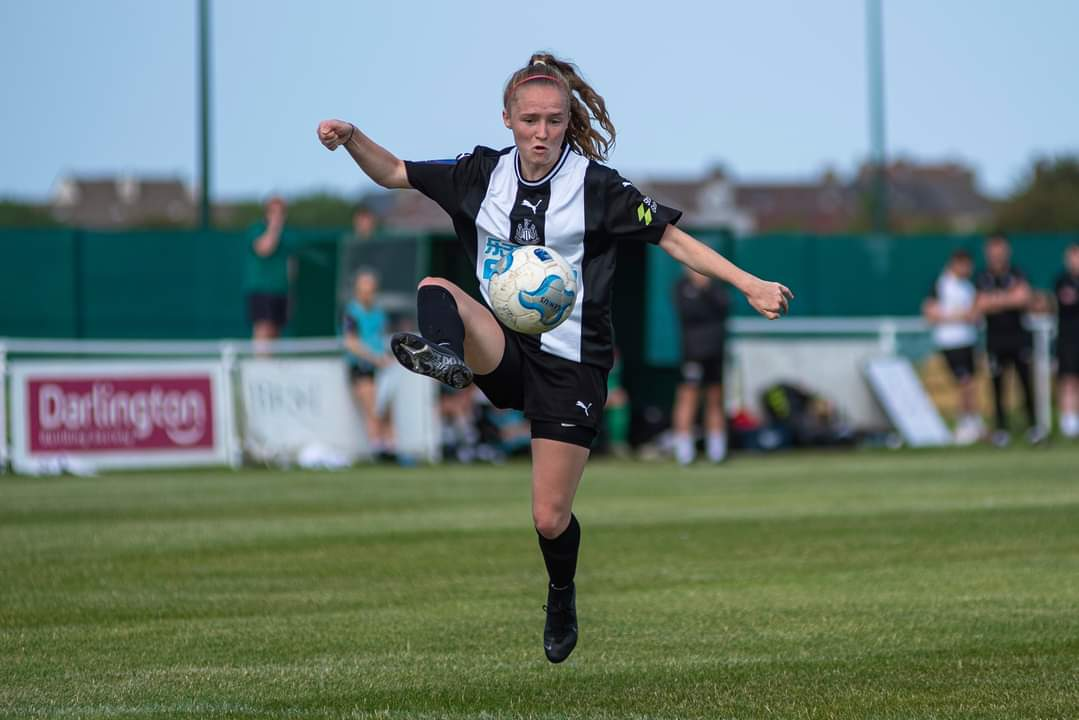 Katie Barker hit a hat-trick for Newcastle United