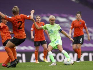 Wolfsburg's four=goal ernille Harder