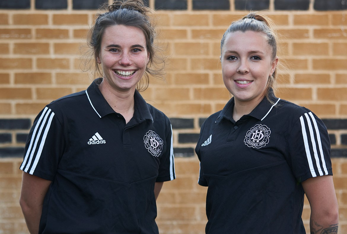 Two new Dulwich players; Alex Newman & Sophie Manzi.