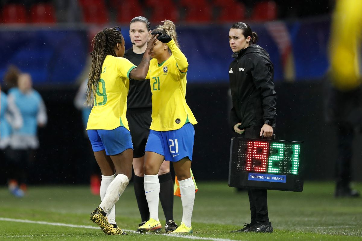 Brazil players at tournament in France