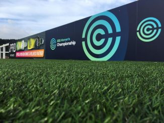 FA Women's Championship advertising board at Maiden Castle