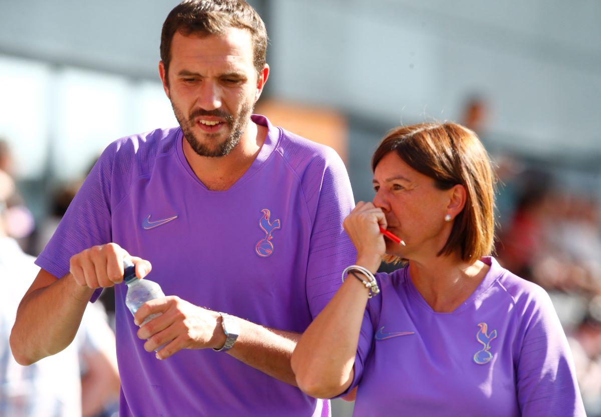 Spurs head coaches Juan Amoros and Karen Hlls