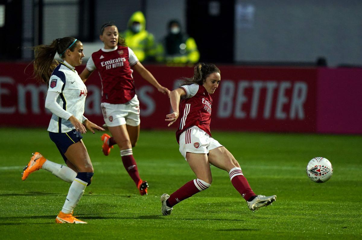 Arsenal's three-goal Lisa Evans