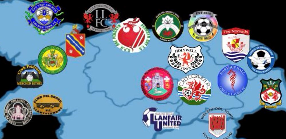 North Wales League team map