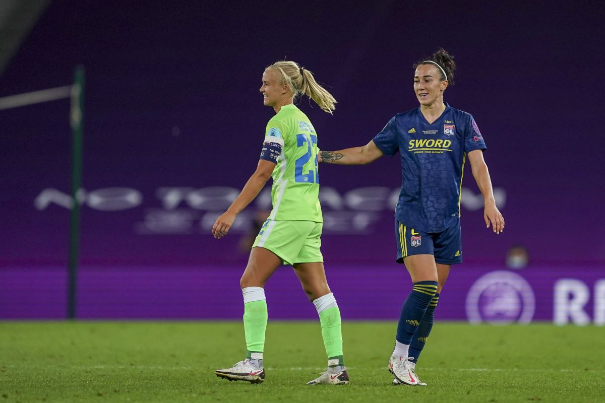Two of the nominees; Pernille Harder Lucy Bronze