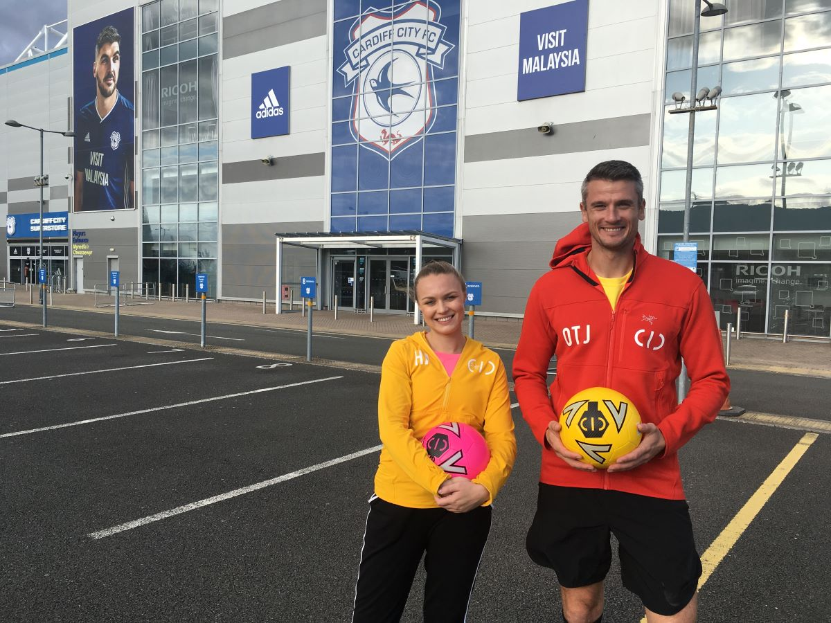 Cic guests Football Freestylers Ash Randall and Lia Lewis