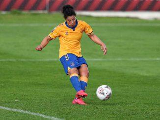 Everton's matchwinner, Valerie Gauvin