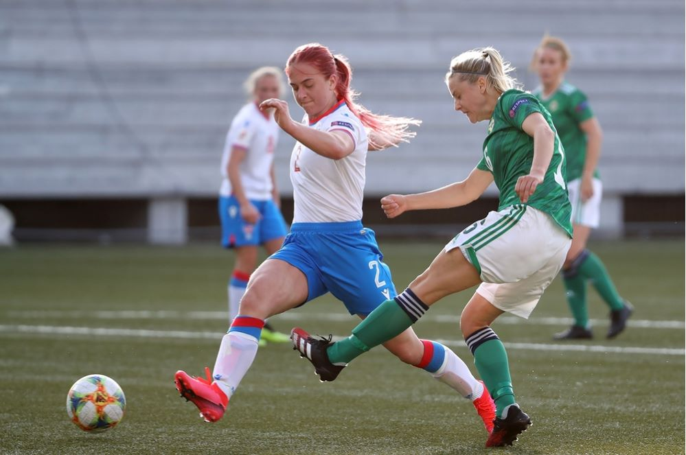 Northern Ireland won 6-0 in the Faroe Islands